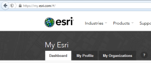 MyEsri website